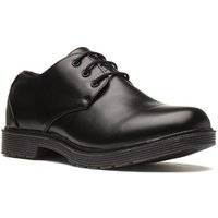 Beckett Mens Black Plain Lace Up Shoe