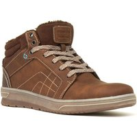 Sprox Mens Brown Lace Up Hi-Top Shoes