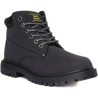 EarthWorks Mens Lace Up Boot In Black