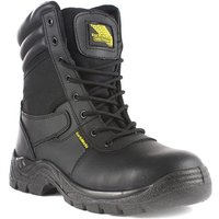 EarthWorks Mens Black Lace Up Ankle Safety Boot
