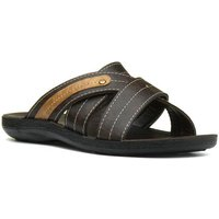 Red Fish Mens Dark Brown Cross Over Mule Sandal