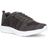 Image of Mens Grey Lace Up Trainer