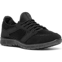 Lilley Womens Black Lace Up Trainer
