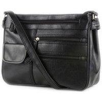 Lilley Black Organiser Shoulder Bag