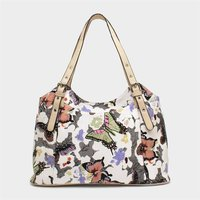 Lilley White Butterfly Printed Handbag