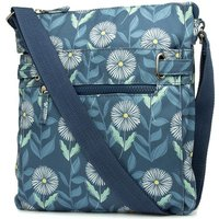 Blue And Floral Print Handbag
