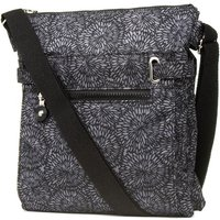 Black and Grey Patterned Cross Body Handbag