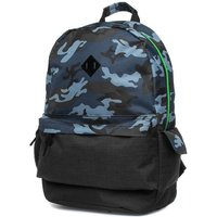 XL Blue And Grey Camouflage Backpack