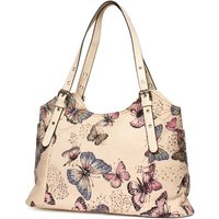 Lilley Beige Butterfly Printed Handbag