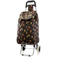 Black Owl Print Shopping Trolley Bag