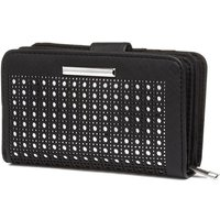 Lilley Womens Black And Metallic Purse