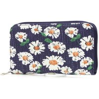 Navy Daisy Print Purse