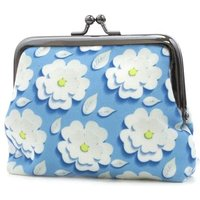 Blue Daisy Print Coin Purse