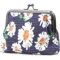 Navy Floral Print Coin Purse