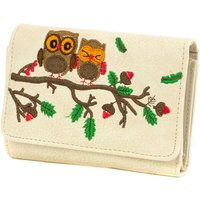 Lilley Beige Owl Embroidered Purse