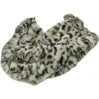 Lilley Womens Grey Leopard Snood