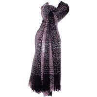 Lilley Mauve and Black Blanket Scarf