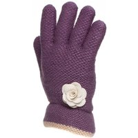 Adults Lilac Fashion Knit Glove