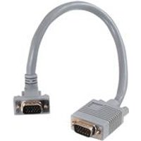 C2G 3m Premium Shielded HD15 SXGA M/M Monitor Cable with 90° Down Angled Male Connector