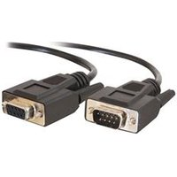 C2G 15m DB9 M/F Extension Cable - Black