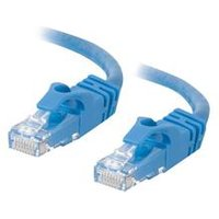 C2G 1m Cat6 550 MHz Snagless Crossover Cable - Blue