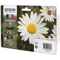 Epson 18 Multipack - Print cartridge - 1 x black, yellow, cyan, magenta - blister