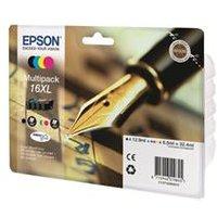 Epson 16 Series XL Ink Cartridge MultiPack - CYMK - Pen and Crossword