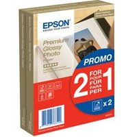 Epson Premium Glossy Photo Paper BOGOF - 100 x 150 mm - 255 g/m2 - 40 sheets (pack of 2 )