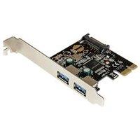 StarTech.com 2 Port PCI Express PCIe SuperSpeed USB 3.0 Controller Card w/ SATA Power