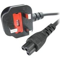 StarTech.com 1m Laptop Power Cord - 3 Slot for UK - BS-1363 to C5 Clover Leaf Power Cable Lead