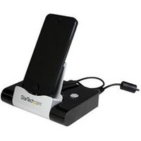 StarTech.com 3 Port USB 3.0 Hub plus Combo Fast-Charge Port (2.1A) with Smartphone / Stand - Black