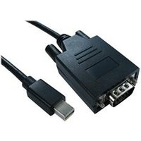 Cables Direct 2m Mini DisplayPort to VGA M-M Cable Black - B/Q 80