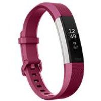 Fitbit Alta HR, Fuchsia / Stainless Steel - Large