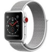 Apple Watch Series 3 GPS + Cellular, 38mm Silver Aluminium Case with Seashell Sport Loop