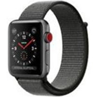 Apple Watch Series 3 GPS + Cellular, 42mm Space Grey Aluminium Case with Dark Olive Sport Loop
