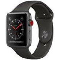 Apple Watch Series 3 GPS + Cellular, 38mm Space Grey Aluminium Case with Grey Sport Band