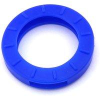 Schlüsselkennring rund, groß-blau