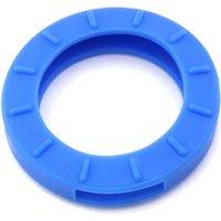 Schlüsselkennring rund, groß-hellblau