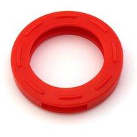 Schlüsselkennring rund, groß-rot