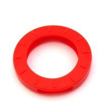 Schlüsselkennring rund, klein-rot
