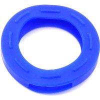 Schlüsselkennring rund, klein-blau