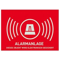 Warnaufkleber Alarmanlage