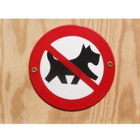 Münder-Email Schild - Hunde verboten