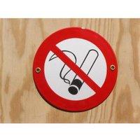 Münder-Email Schild - Nichtraucher