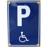 Münder-Email Schild - Behindertenparkplatz