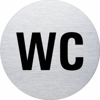 Ofform Edelstahlschild - WC