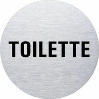 Ofform Edelstahlschild - Toilette