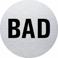 Ofform Edelstahlschild - Bad