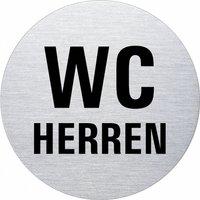 Ofform Edelstahlschild - WC Herren