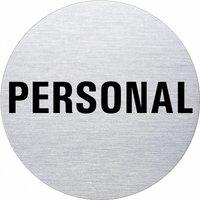 Ofform Edelstahlschild - Personal